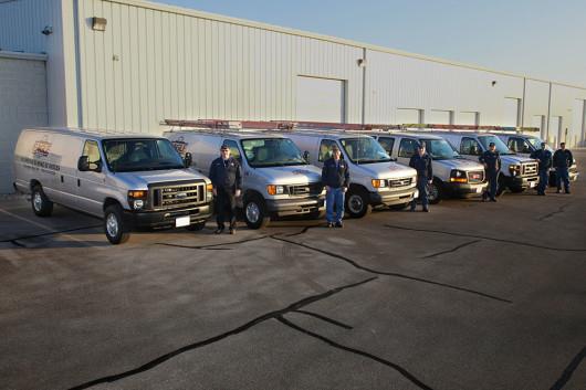 staff and vans